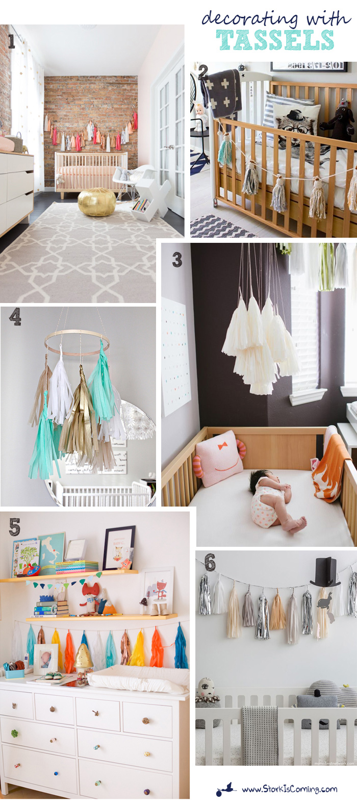 decorate a nursery with tassels