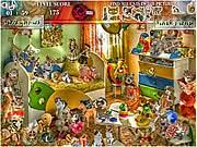 Game tìm mèo trong tranh, chơi game trí tuệ hay tại gamevui.biz