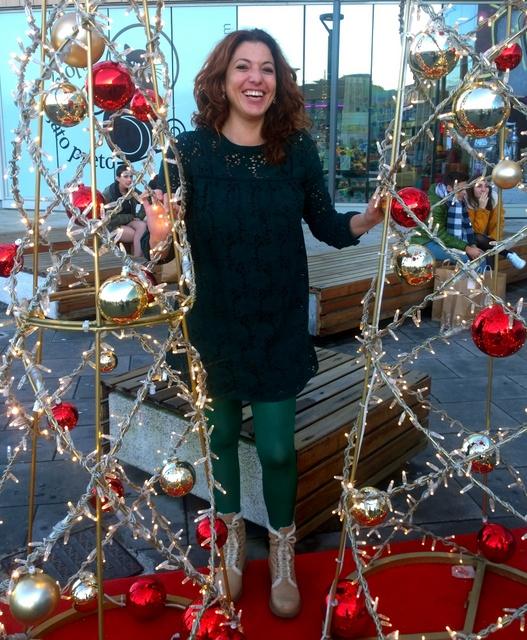 vestido verde navidad