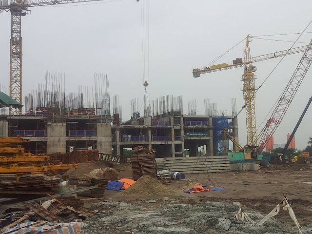 Toàn cảnh công trường xây dựng dự án Eco Green City