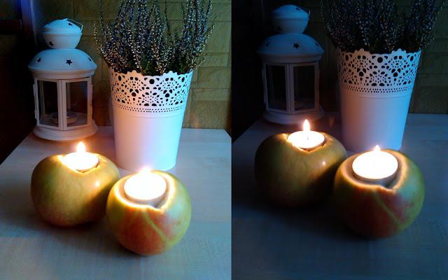 DIY Świecznik z jabłek