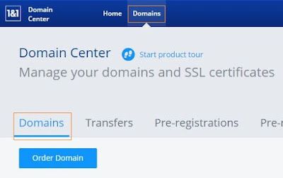 How to point a 1and1 domain to Arvixe Hosting Accont