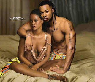Photoshopped picture of Rihanna and Flavour