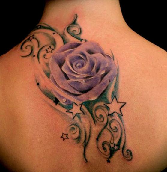 Lavender rose tattoos designs