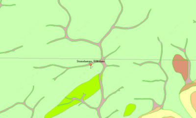 Stonehenge - BGS Geological Map showing superficial deposits