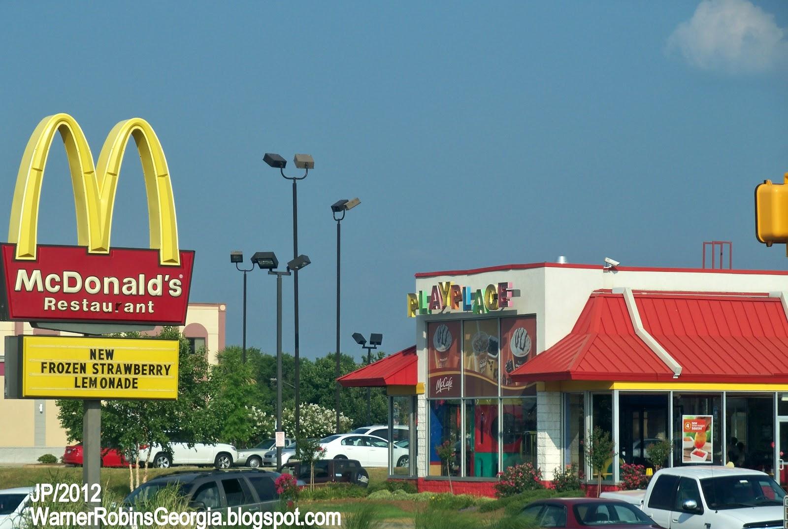 Mcdonald S Warner Robins Georgia Watson Blvd Hamburgers Fast Food Restaurant Houston County Ga