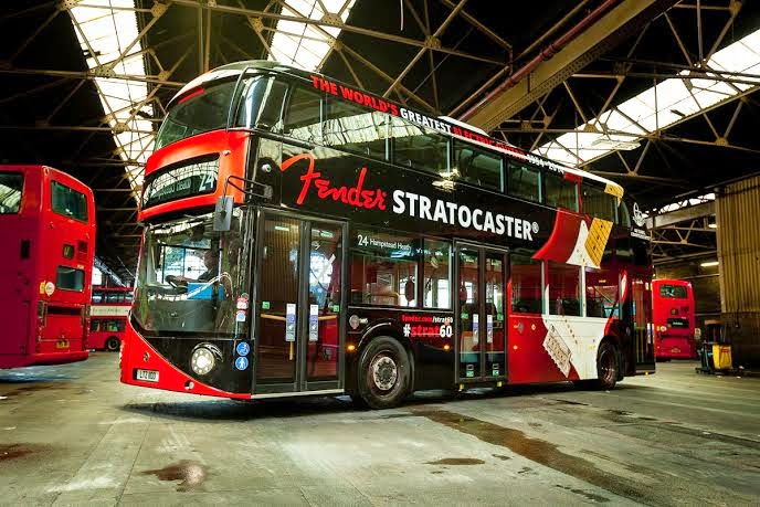 Fender Routemaster Bus Stratocaster Anniversary