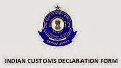 INDIA CUSTOMS DECLARATION FORM