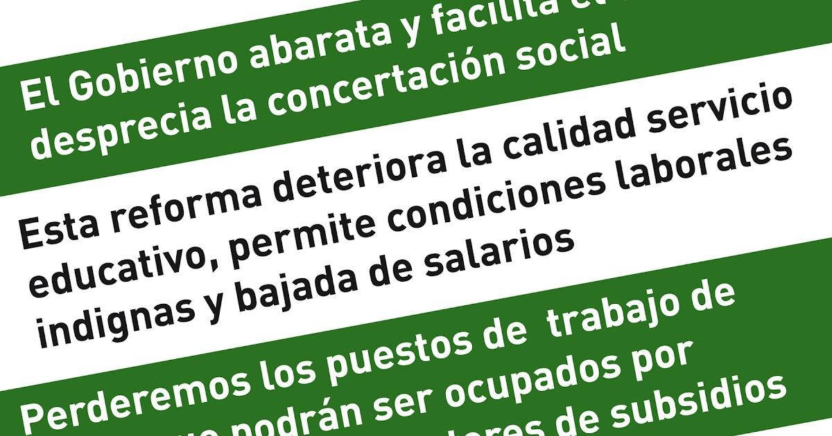 Mareaverde reforma laboral la repercusi n de la reforma for Ccoo ensenanza madrid