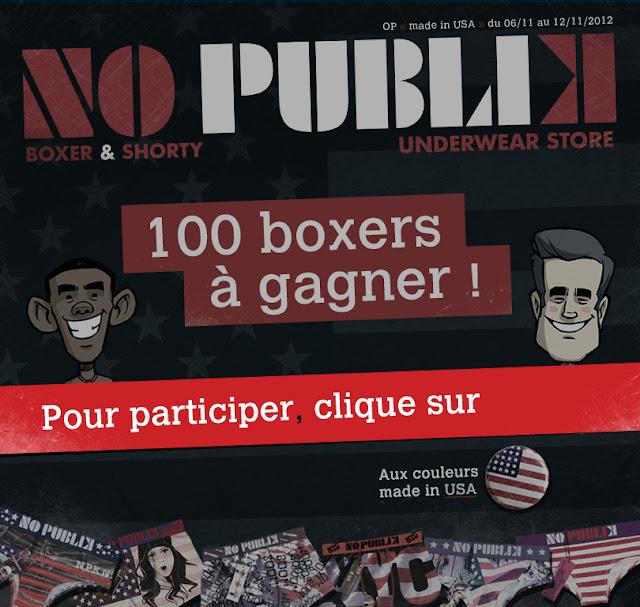 50 boxers No Publik + 50 shortys à gagner