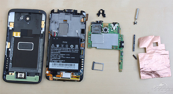 htc one x disassembled picture