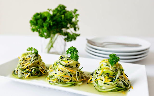Zoodles with Truffle Oil - Only 3 ingredients