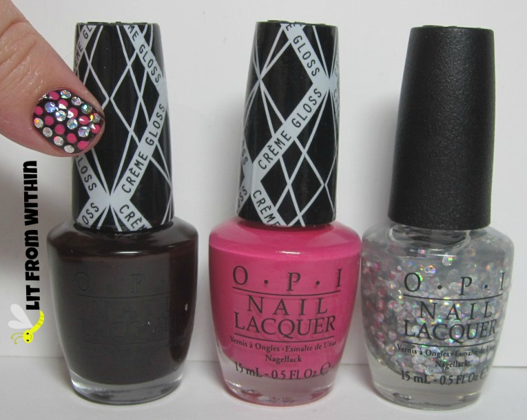 OPI I Sing In Color, Hey Baby, and I Snow You Love Me.