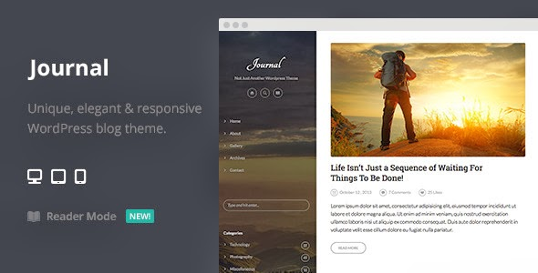 Premium WordPress Template for Journal