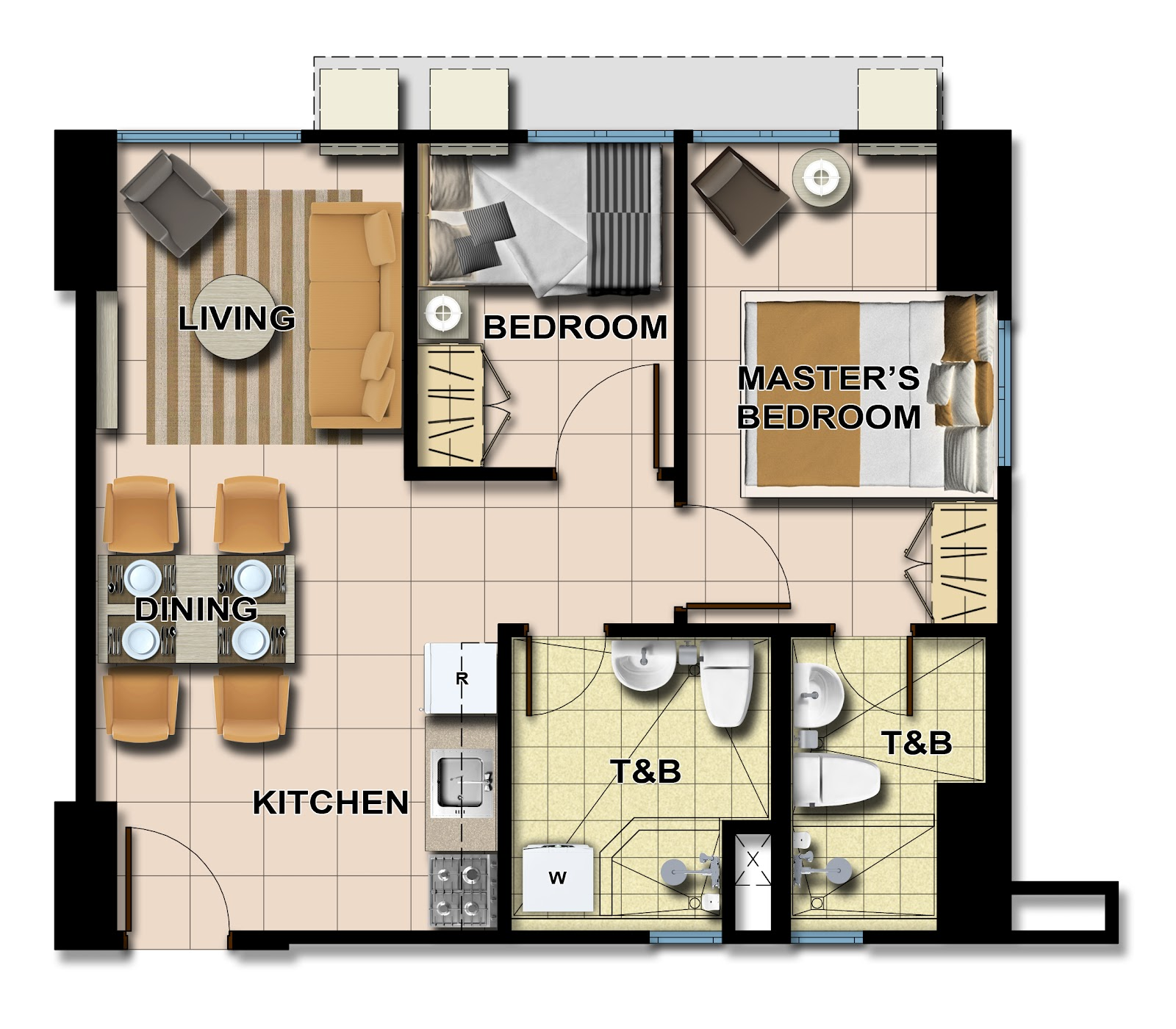 Avida towers centera for 4 unit condo plans