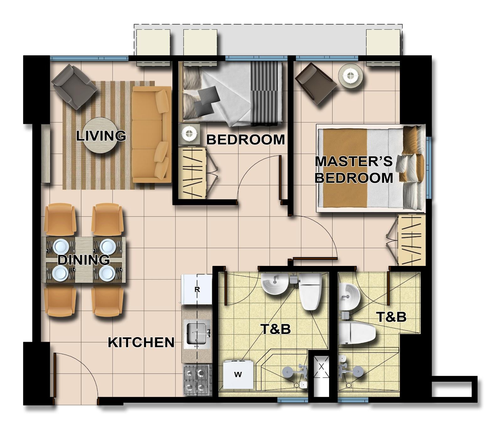 Avida towers centera for 4 unit condo plans