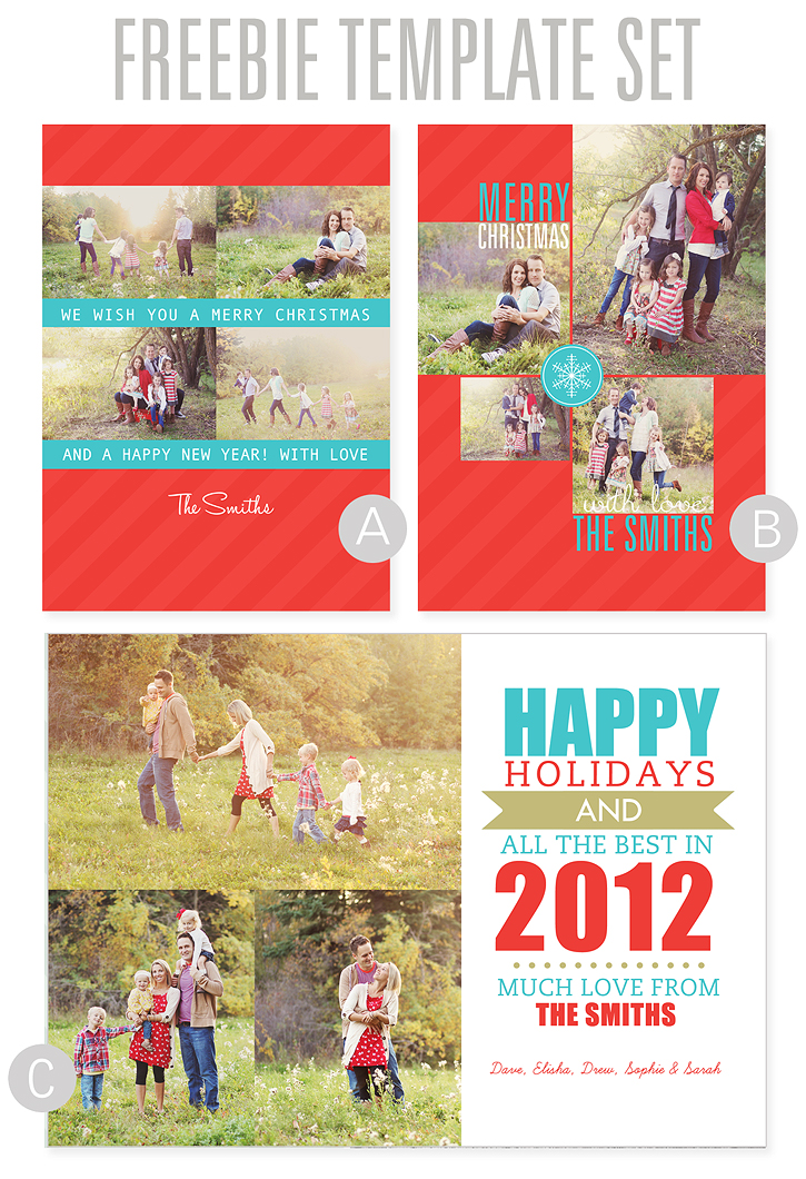 2012 Christmas Card Templates