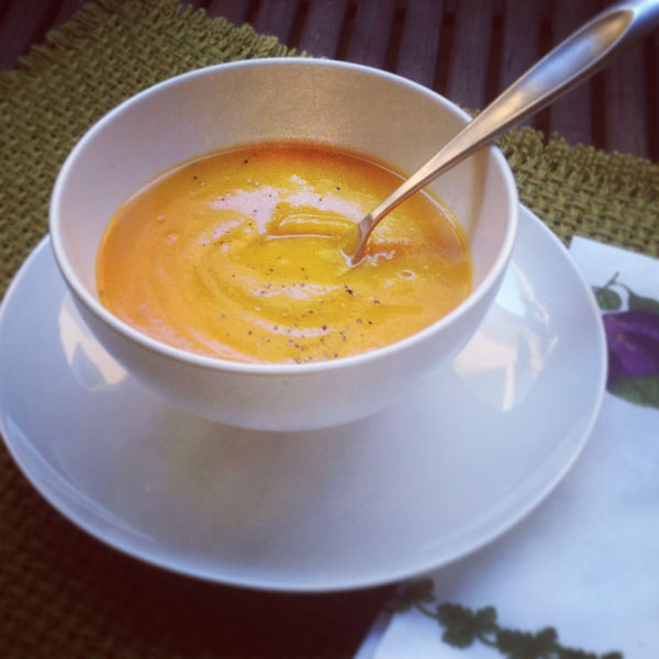 Basic Butternut Squash Soup - Healing and Eating