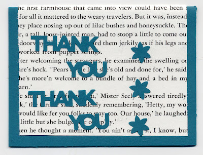 thank you card with simpler design