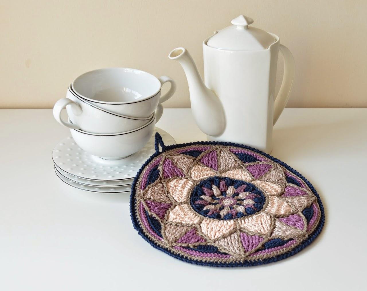 Stained Glass Mandala Potholder | LillaBjörn\'s Crochet World