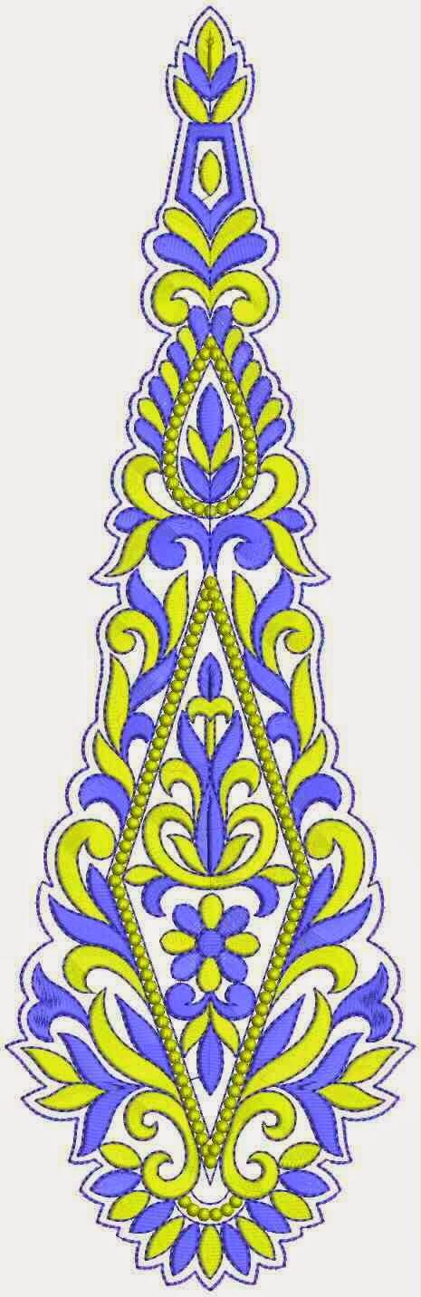 blomme borduurwerk patroon appliekwerk