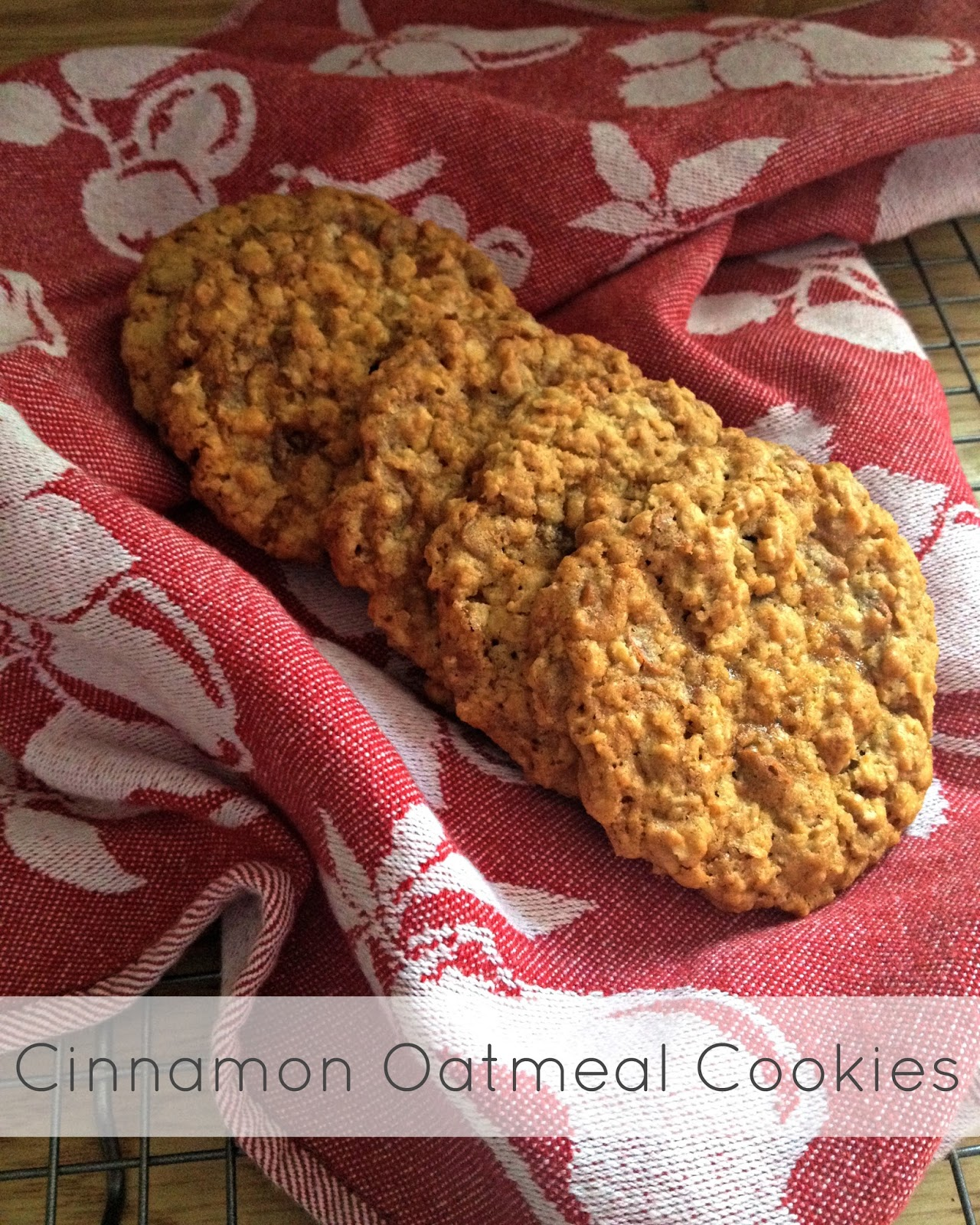 Sunflour Cottage Creations: Cinnamon Oatmeal Cookies