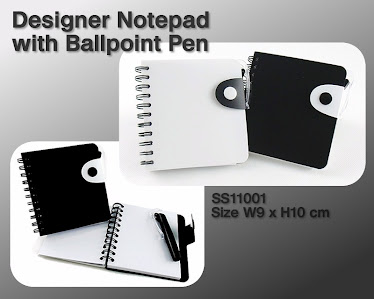 CENTRUM LINK - DESIGNER NOTEPAD WITH PEN - SS11001