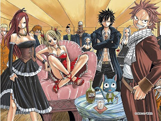 fairy tail anime wallpaper guild erza natsu gray lucy manga