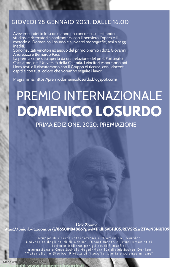 """Premio internazionale """"Domenico Losurdo"""""""