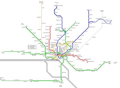Hamburg Karte von U-Bahn