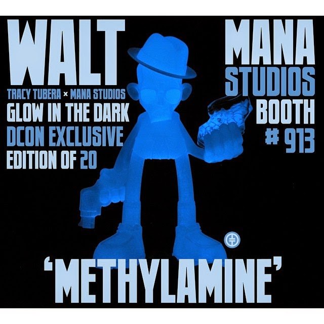 Designer Con 2014 Exclusive Methylamine Edition Walt Glow in the Dark Breaking Bad Resin Figure by Tracy Tubera