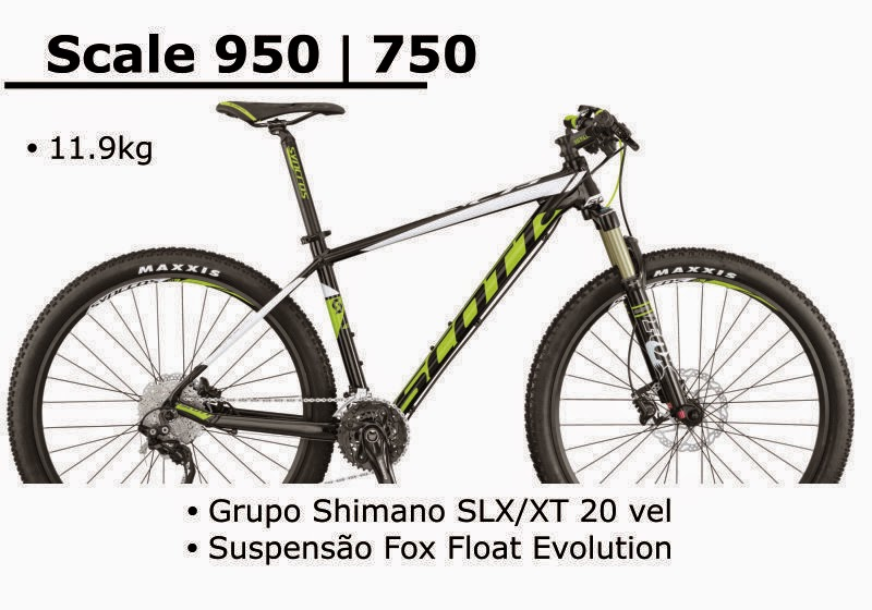 Bicicleta Scott Scale 950 / 750 2015