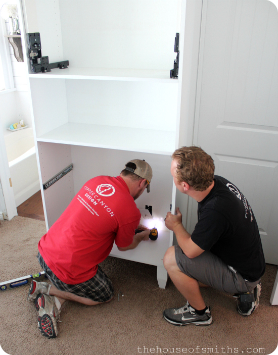 TV storage in master bedroom install - thehouseofsmiths.com