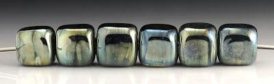 Triton lampwork glass cube beads