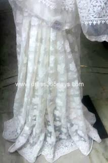 Net Lucknowi Chikan Saree