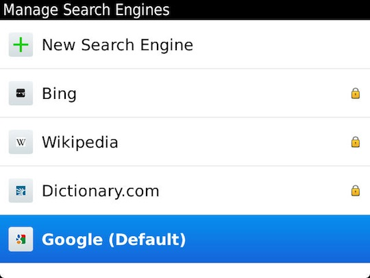 how to change defailt search engine