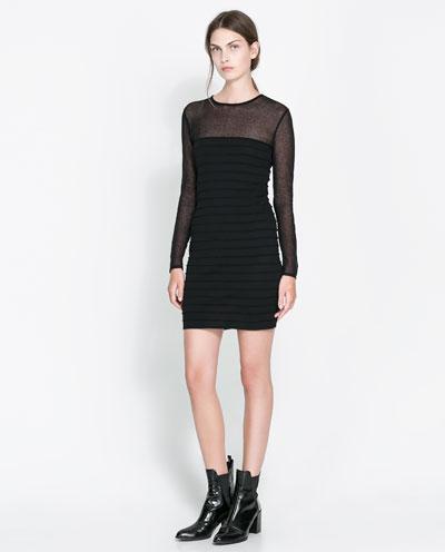 transparan siyah elbise