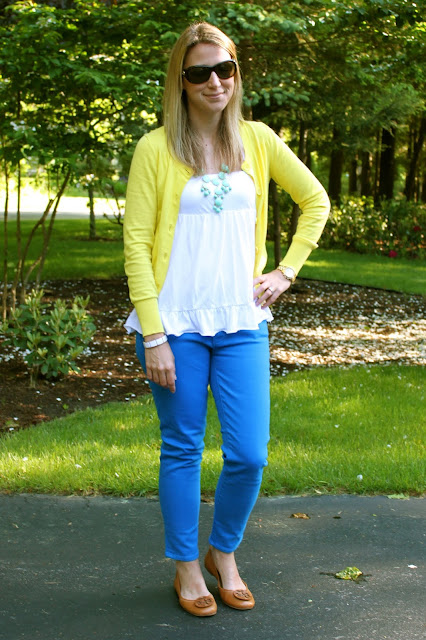 The Salty Hanger :: Lemon Zest (Yellow Cardigan + Cobalt Jeans)