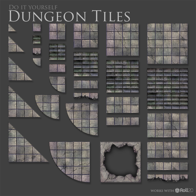 brain scribbles dungeon tiles and props on sale now