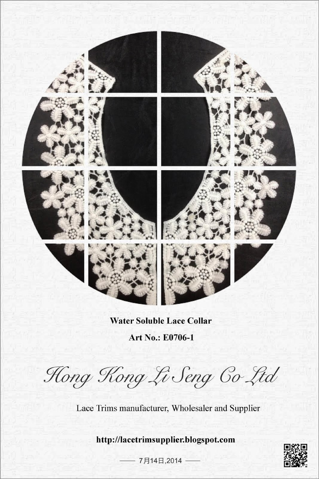 "Water Soluble Lace Collar Manufacturer Wholesaler and Supplier "" Hong Kong Li Seng Co Ltd """