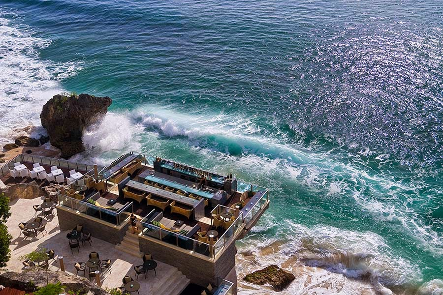 Bali Attractions: Waves at Ayana Resort Rock Bar Bali