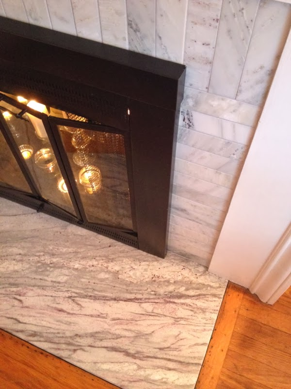 From drab to fab: A fireplace makeover...