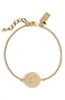 kate spade new york north court pave initial charm