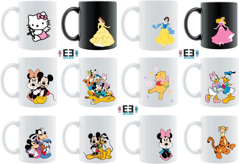 Disney Characters Mug (Super Cute!!) ~ Double ED