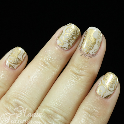 Mani with Messy Mansion MM46 - the Flowers Plate