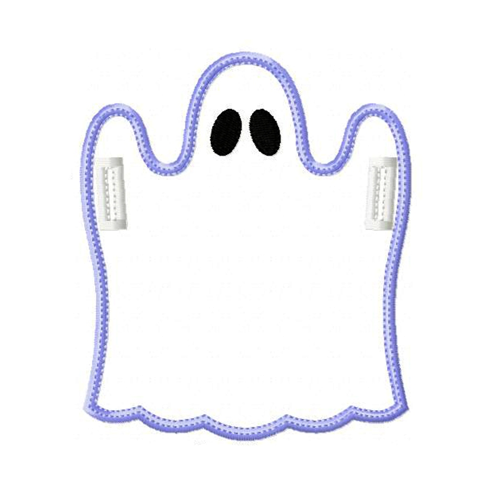 Big dreams embroidery ghost banner in the hoop