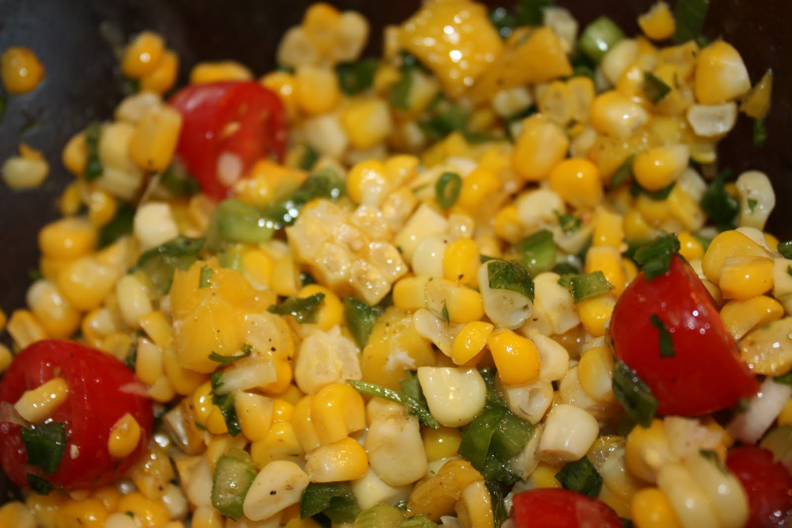 Sweet corn salad recipe dishmaps for Sides for fish tacos