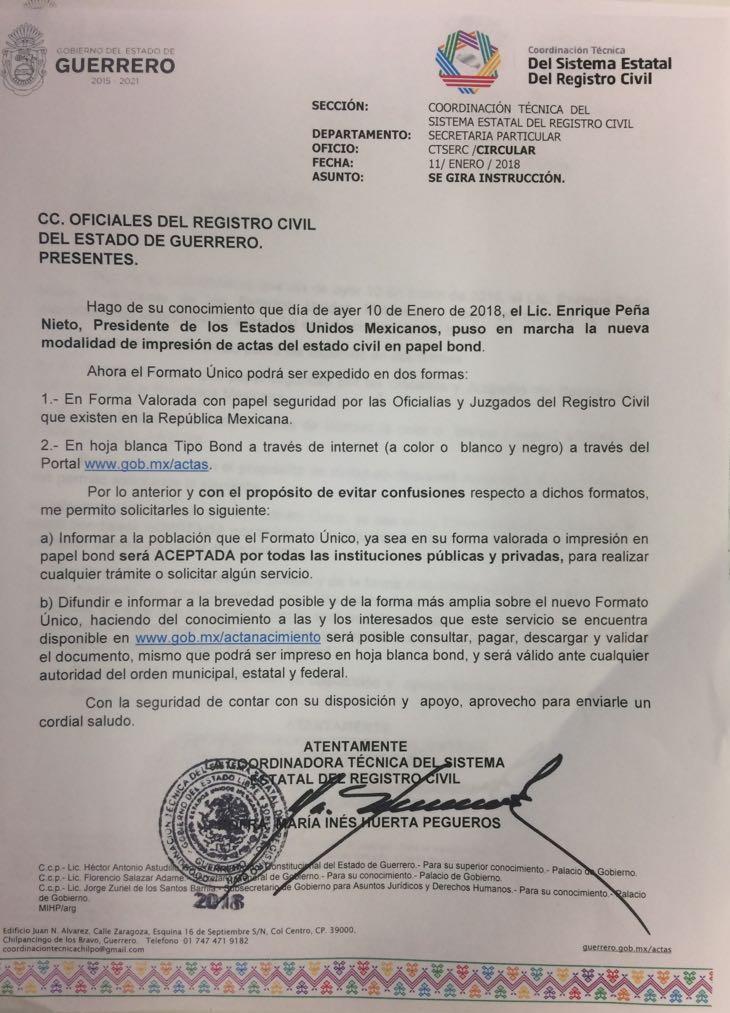 Acapulco HOY!: Ya es oficial, podrás imprimir tu acta de nacimiento ...