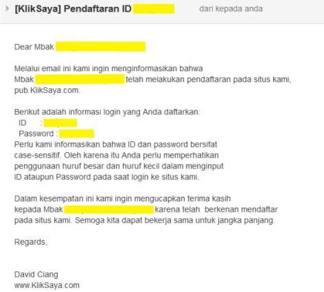 Langkah-langkah Register PPC KlikSaya