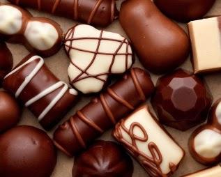 Chocolate rellenos de bayas